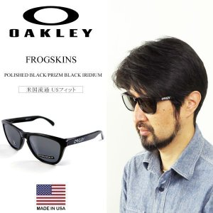 オークリー OAKLEY サングラス フロッグスキン ポリッシュドブラック/プリズムブラックイリジウム (USフィット FROGSKINS)|jalana