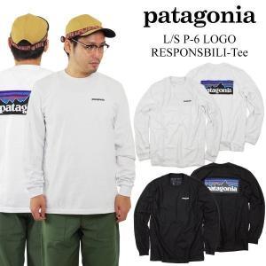 パタゴニア patagonia 長袖 Tシャツ P-6 ロゴ レスポンシビリティー (39161 L/S P6 LOGO POCKET RESPONSIBILI-TEE メンズ ロンT)|jalana
