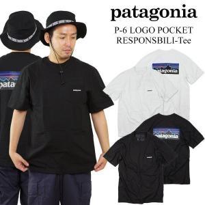 パタゴニア patagonia 半袖 Tシャツ P-6 ロゴ ポケット レスポンシビリティー (39178 P6 LOGO POCKET RESPONSIBILI-TEE メンズ)|jalana