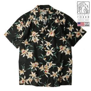 パラダイスファウンド PARADISE FOUND アロハシャツ スターオーキッド(メンズ XS-XXL ハワイ製 開襟 オープンカラー レーヨン アメリカ製) jalana