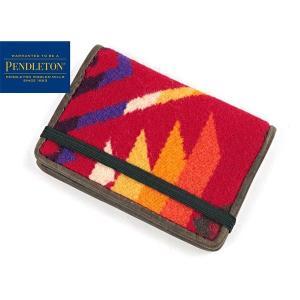 ペンドルトン PENDLETON カードケース コヨーテビュート スカーレット (CARD CASE 名刺入れ)|jalana