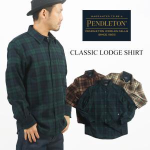ペンドルトン PENDLETON 長袖ウールシャツ クラッシックロッジシャツ ブラックウォッチ (CLASSIC LODGE SHIRT)|jalana