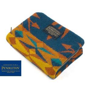 ペンドルトン PENDLETON ミニ アコーディオン ウォレット エコピークス ブルー (財布 小銭入れ)|jalana
