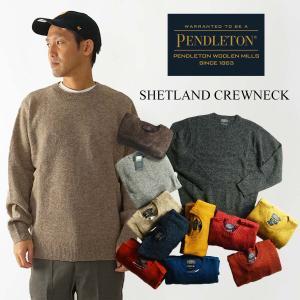 ペンドルトン PENDLETON ウールセーター シェットランド クルーネック チャコールマール (SHETLAND CREWNECK)|jalana