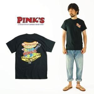 ピンクス ホットドッグス PINKS HOTDOGS 半袖 Tシャツ ベストドゴンホットドッグオンザプラネットメンズ S-XXL 海外買い付け ご当地 jalana