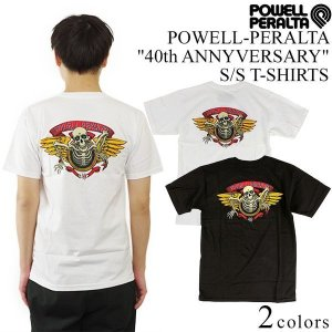 パウエル・ペラルタ POWELL-PERALTA 半袖Tシャツ 40thアニバーサリー (40th ANNYVERSARY 40周年 限定)|jalana