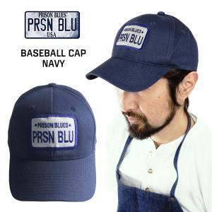 プリズンブルース PRISON BLUES ロゴベースボールキャップ リンスドブルー ワークキャップ 帽子|jalana