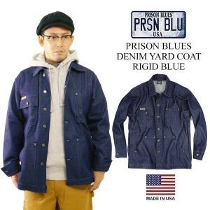 プリズンブルース PRISON BLUES デニムヤードコート リジッドブルー(アメリカ製 米国製 カバーオール)|jalana