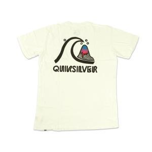 クイックシルバー QUIKSILVER 半袖Tシャツ クラックル ホワイト (CRACKLE)|jalana