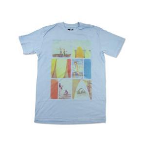 クイックシルバー QUIKSILVER 半袖Tシャツ エコー ライトブルー (ECHO)|jalana