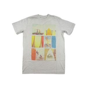 クイックシルバー QUIKSILVER 半袖Tシャツ エコー グレー (ECHO)|jalana