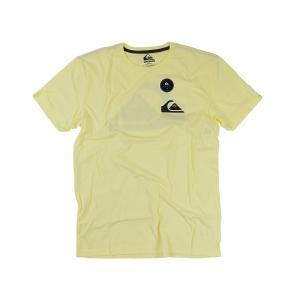 クイックシルバー QUIKSILVER 半袖Tシャツ マウンテンウェーブロゴ パステルイエロー (MW LOGO MOUNTAIN WAVE)|jalana