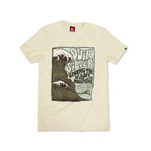 クイックシルバー QUIKSILVER 半袖Tシャツ アウト ザ バック ナチュラル (OUT THE BACK NATURAL サーフ)|jalana