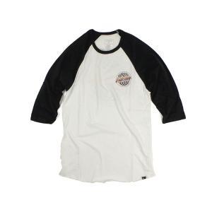 クイックシルバー QUIKSILVER ラグラン ベースボールTシャツ サンドストーム ホワイト (SANDSTORM)|jalana