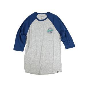 クイックシルバー QUIKSILVER ラグラン ベースボールTシャツ サンドストーム ヘザーグレー (SANDSTORM)|jalana