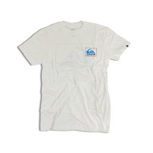 クイックシルバー QUIKSILVER 半袖Tシャツ ザ ボックス ホワイト (THE BOX MOUNTAIN WAVE)|jalana