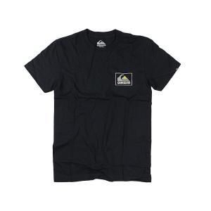 クイックシルバー QUIKSILVER 半袖Tシャツ ザ ボックス ブラック (THE BOX MOUNTAIN WAVE)|jalana