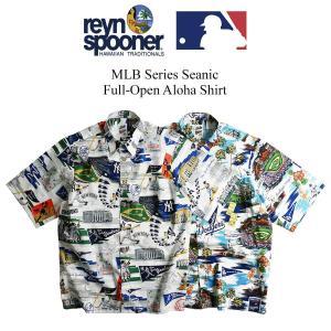 レインスプーナー REYN SPOONER 半袖 アロハシャツ フルオープン シーニック メジャーリーグ公式 2020-21年モデル メンズ S-XXXL MLB SCENIC jalana