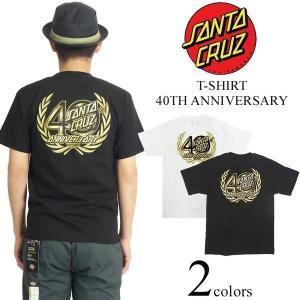 サンタクルズ SANTA CRUZ 半袖Tシャツ 40周年 アニバーサリー(米国流通モデル 40TH ANNIVERSARY サンタクルーズ)|jalana