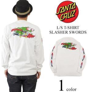 サンタクルズ SANTA CRUZ 長袖Tシャツ スラッシャーソード ホワイト (米国流通モデル SLASHER SWORDS ロンT ジムフィリップス サンタクルーズ)|jalana