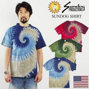 Tシャツ メンズ 半袖 サンドッグ タイダイ (SUNDOG サンドッグシャツ 絞り染め 手染め)|jalana