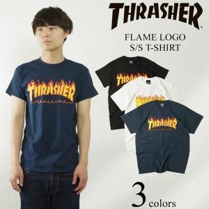 スラッシャー マガジン THRASHER 半袖Tシャツ フレイムロゴ (FLAME LOGO S/S T-SHIRT)|jalana