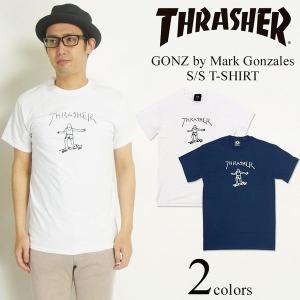 スラッシャー マガジン THRASHER 半袖Tシャツ ゴンズ BY MARK GONZALES(GONZ マーク ゴンザレス)|jalana