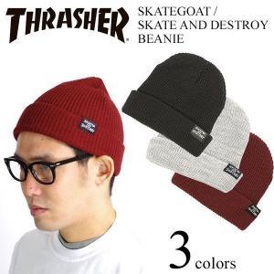 スラッシャー マガジン THRASHER ニットキャップ スケートゴート/スケートアンドデストロイ ビーニー (Skategoat / Skate And Destroy Beanie)|jalana