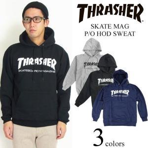 スラッシャー マガジン THRASHER フードスウェット プルオーバー スケートマグ (パーカー SKATE MAG)|jalana