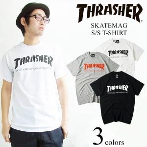 スラッシャー マガジン THRASHER 半袖Tシャツ スケートマグ (SKATEMAG S/S T-SHIRT)|jalana