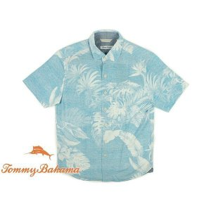 トミーバハマ Tommy Bahama 半袖シャツ グランデフロンズ ブルーリダンス (世界流通モデル GRANDE FRONDS)|jalana