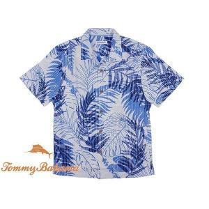 トミーバハマ Tommy Bahama 半袖シャツ パライソパームス ブルーサーフ (世界流通モデル PARAISO PALMS)|jalana