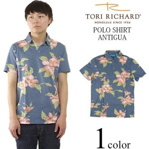 トリリチャード TORI RICHARD 半袖 ポロシャツ アンティグア デニム (アメリカ製 米国製 ANTIGUA)|jalana