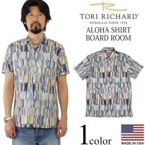 トリリチャード TORI RICHARD 半袖 アロハシャツ ボードルーム (アメリカ製 米国製 BOARD ROOM)|jalana
