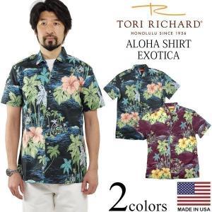 トリリチャード TORI RICHARD 半袖 アロハシャツ エキゾチカ (アメリカ製 米国製 EXOTICA)|jalana