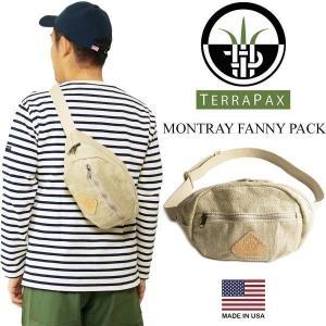 テラパックス TERRA PAX モントレー ファニーパック (メンズ レディース アメリカ製 米国製 ヘンプ 麻 レザー MONTEREY ボディバッグ ポーチ)|jalana