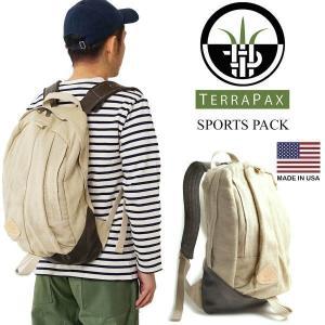 テラパックス TERRA PAX スポーツパック (メンズ レディース アメリカ製 米国製 ヘンプ 麻 レザー SPORT PACK デイパック リュック バックパック)|jalana