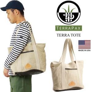 テラパックス TERRA PAX テラトート (メンズ レディース アメリカ製 米国製 ヘンプ 麻 レザー TOTE トートバッグ)|jalana