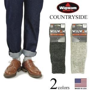 ウィグワム Wigwam ウールソックス カントリーサイド (米国製 アメリカ製 COUNTRYSIDE 靴下 ウール メリノウール 杢 ヘザー)|jalana