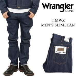 ラングラーアイコンズ Wrangler ICONS 11MWZ メンズ スリムジーン ニュー (リジッド ブロークンデニム)|jalana