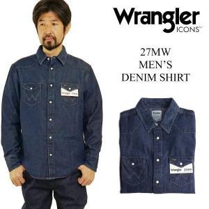 ラングラーアイコンズ Wrangler ICONS 27MW メンズ デニムシャツ ニュー (ウエスタンシャツ) jalana
