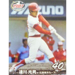 プロ野球OBクラブ 1987年編:レギュラーパラレルミニカード(青版) 10 達川光男(広島東洋カープ) jambalaya