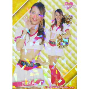 10 【ELIKA (ソフトバンク/Honeys)】BBM プロ野球チアリーダーカード2019 -舞- レギュラーホロパラレル|jambalaya