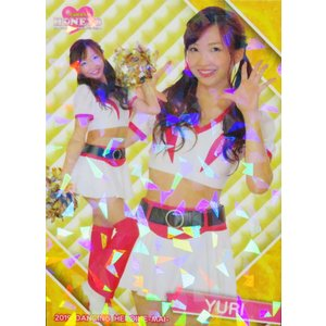 12 【YURI (ソフトバンク/Honeys)】BBM プロ野球チアリーダーカード2019 -舞- レギュラーホロパラレル|jambalaya