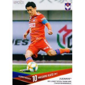 10 【加藤大】2019Jリーグカード TEメモラビリア アルビレックス新潟 レギュラー jambalaya