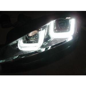 VW ゴルフ7用 SONAR製プロジェクターヘッドライトユニット DRLルック オートレベライザー付き|jamix|02