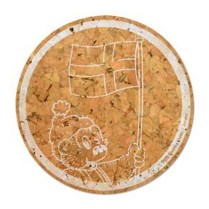 ラスムス クルンプ コルクコースター(ホワイト)|jammy-store