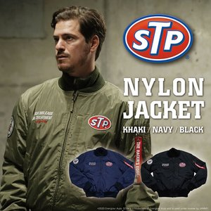 【送料無料】STP NYLON JACKET MA-1 ナイロンジャケット ブラック ネイビー カーキ おしゃれ アメカジ 正規ライセンス商品 jammy-store