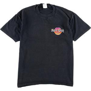 90年代 ハードロックカフェ HARD ROCK CAFE LOS ANGELES 25YEARS OF ROCK アドバタイジングTシャツ USA製 メンズXL 【中古】 【200301】 /eaa011489|jamtrading1