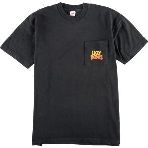 90年代 フルーツオブザルーム FRUIT OF THE LOOM LAZY BONES レージーボーンズ ポケットTシャツ USA製 メンズXL  ヴィンテージ 【中古】 【200307】 /eaa011545|jamtrading1